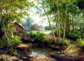 Landscape Pictures To Paint In Oils Realistic Landscape Paintings Modern Landscape