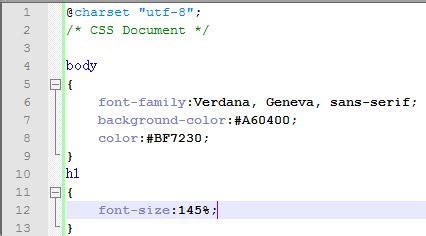 new design font css project 1