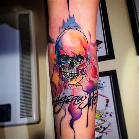 watercolor tattoo niagara 45 catchy watercolor skull tattoos designs ideas picsmine