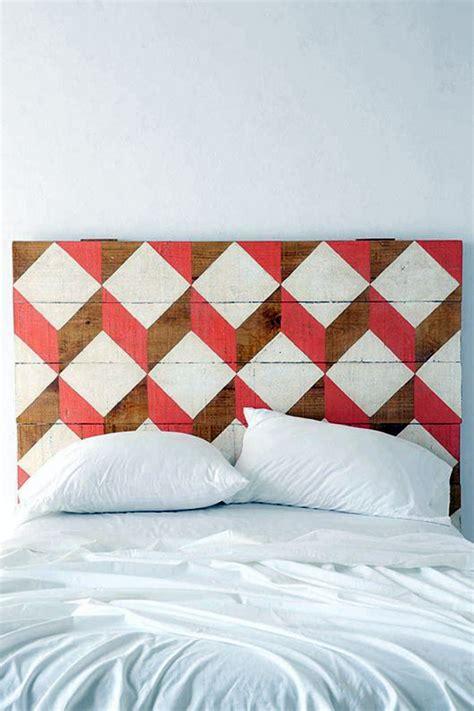 geometric pattern headboard 30 ideas for headboard fabulous and artful exles