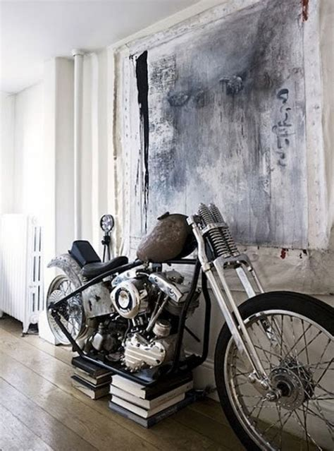 harley davidson living room bringing the motorcycle inside inspiration roundup apartment therapy