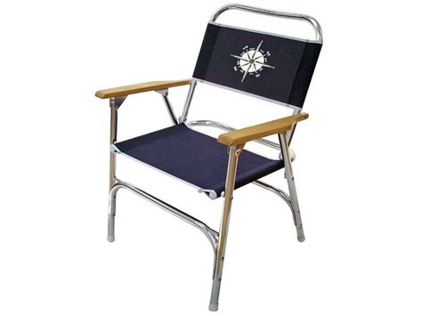 marine folding deck chair for boat anodized aluminum