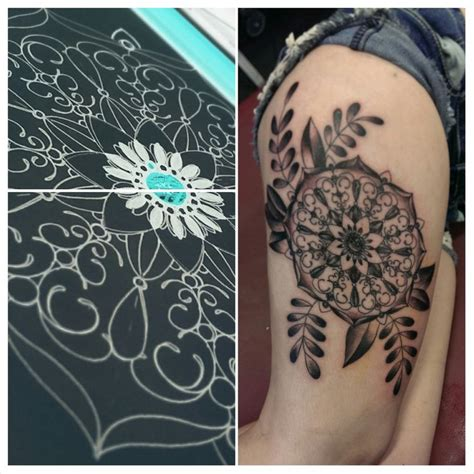 broken clover tattoo cool mandala and tattooed by johnnyjinx at the