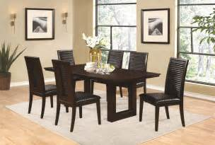 coaster dining room sets coaster chester 7 piece dining room set in bitter chocolate by dining rooms outlet