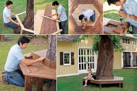 diy tree bench 16 diy outdoor furniture pieces beautyharmonylife