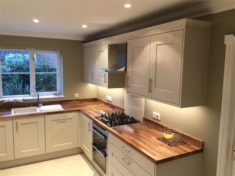 putty colored kitchen cabinets lima kitchens marlow painted putty kitchen with walnut