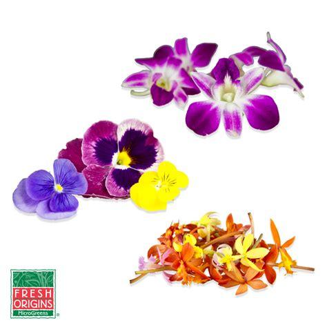 edible flowers sler pansies orchids marx foods