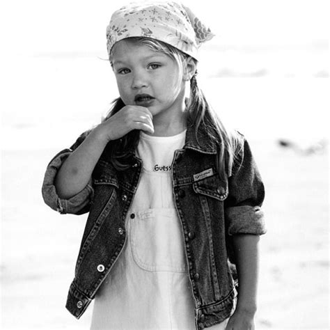 this baby photo of gigi hadid proves she was born to be a gigi hadid talks guess kids the lakers and candice