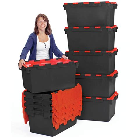 ref lc pblackred large recycled plastic hinged lid