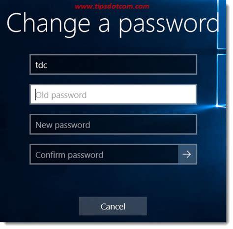 windows 10 reset password tablet change your password in windows 10