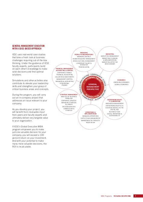 Global Executive Mba Programs by Iese Global Executive Mba Brochure