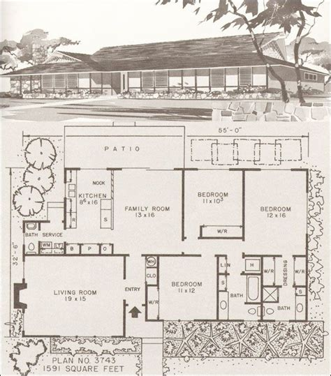 mid century floor plans mid century modern house plans modern homes modern hawaiian style ranch mid century