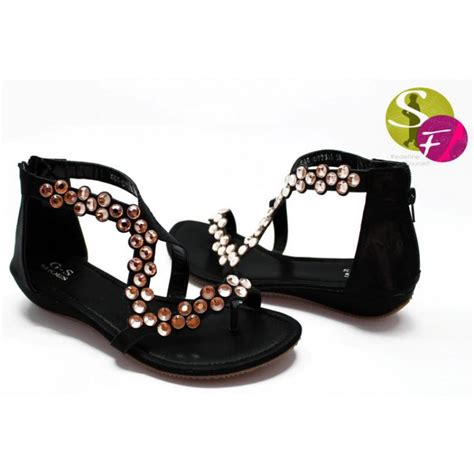 Flat Shoes Pk 055 312 flat sandals with tea pink diamontes in pakistan hitshop