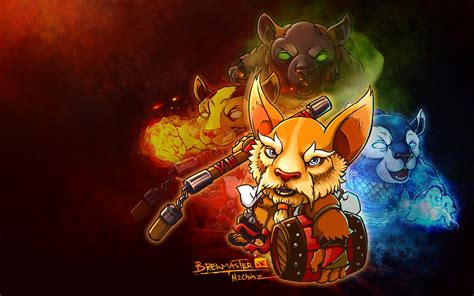 Chibi Dota 1 brewmaster wallpapers dota 2 hd wallpapers 1 dota 2