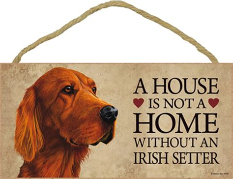 irish setter house dog irish setter indoor dog breed sign plaque a house is not