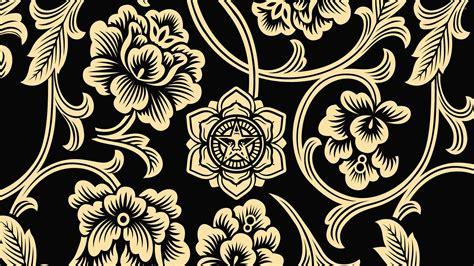wallpaper tribal gold tribal golden flowers on dark background wallpaper