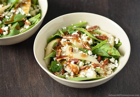 goat cheese salad spinach salad with pears pecans and goat cheese