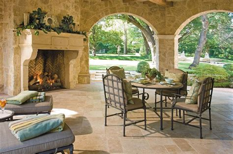 Outdoor Living Spaces By Harold Leidner Outdoor Fireplace Decor
