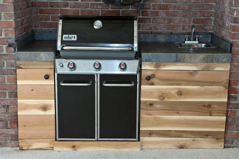 Outdoor Gas Kitchen by Charming Weber Outdoor Kitchen Inspirations With Grills On