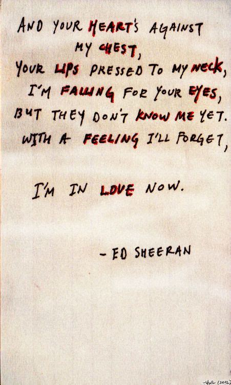 ed sheeran on my way lyrics 17 best images about ed sheeran lyrics on pinterest best