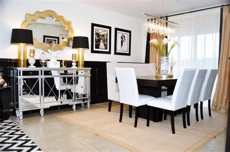Dining Room Sets Miami by Black And Gold Glamour