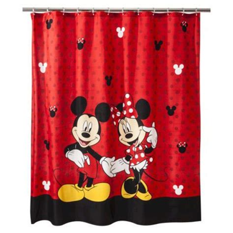 red mickey mouse curtains mickey minnie mouse red fabric and fabric shower curtains