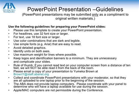 powerpoint design guidelines powerpoint template and guidelines