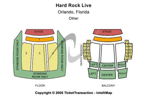 rock live seating map rock live orlando seating chart