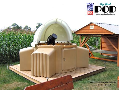 Backyard Pod by Skyshed Pod Dome Backyard Observatory Skyshed Pod Skypod