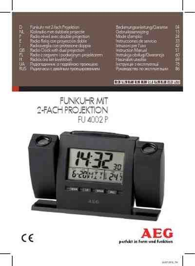 Alarm Fu aeg fu 4002 p alarm clock manual for free now 35020 u manual