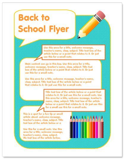free templates for school flyers back to school flyer template http www worddraw com back