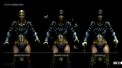 Or Variations Netherrealm Studios Provides Details Images For D Vorah S Three Variations In Mortal Kombat X