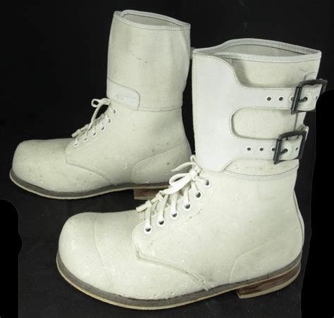 Boot R 011 Crem s a r hyde sons co ww ii white felt canvas