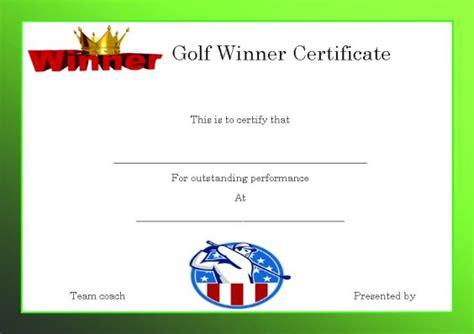 free golf handicap certificate template golf certificate template 28 images golf gift