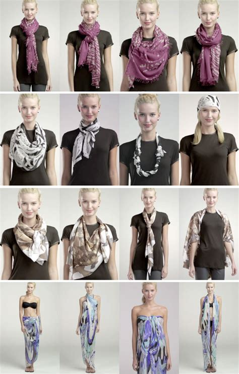 different ways to wear a bandana with short hair how to tie a scarf 4 scarves 16 ways