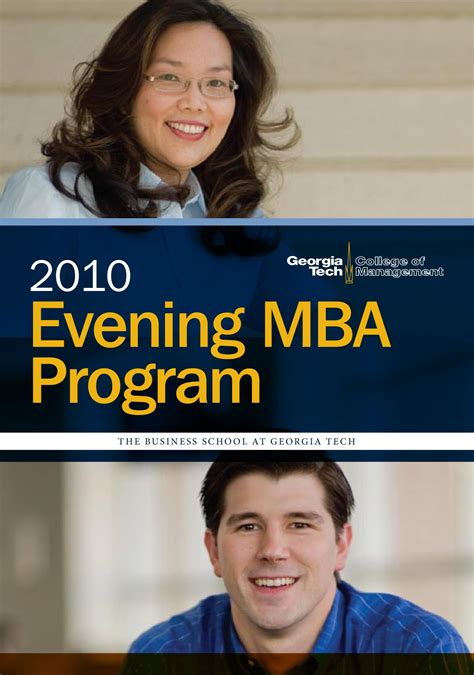 Gatech Mba Admissions by 2010 Evening Mba Brochure By Andrew Hodges Issuu