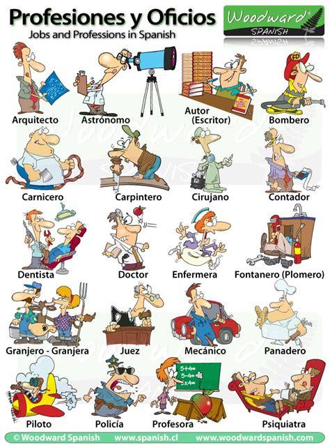 imagenes de profesiones en ingles y español profesiones y oficios en espa 241 ol professions and jobs