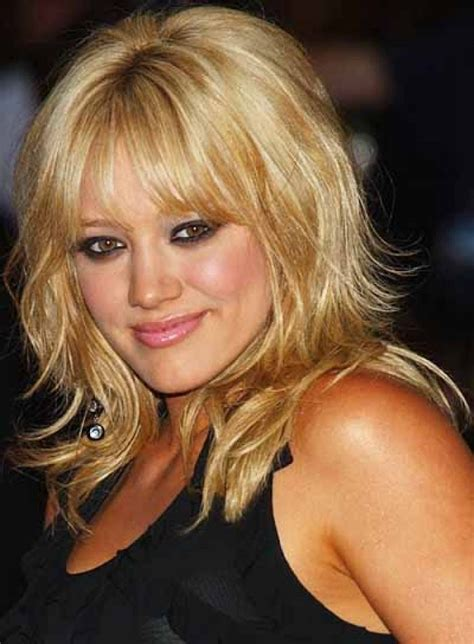 Layered Medium Length Hairstyles by Shoulder Length Hairstyles With Bangs For 45