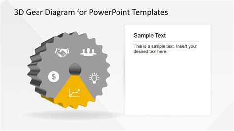 how to create gear diagrams in powerpoint using shapes 5 steps 3d gear diagram for powerpoint slidemodel