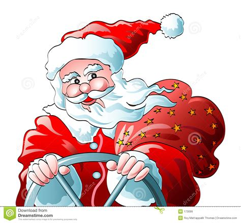 animated santa driving santa clause drive royalty free stock images image 173099