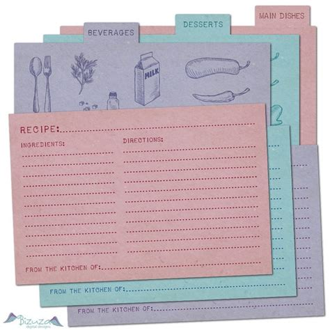 4x6 recipe card divider template 57 best free recipe cards images on free