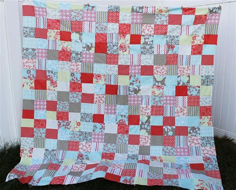 Craftdrawer Crafts Free Quilt Pattern Patchwork Throw - free quilt patterns for beginners easy patchwork the