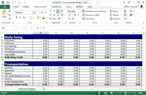 free excel personal budget template all worksheets 187 personal budgeting worksheets printable