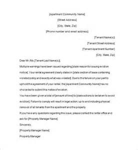 Landlord Eviction Letter Template 13 Sample Eviction Notice Templates Free Samples