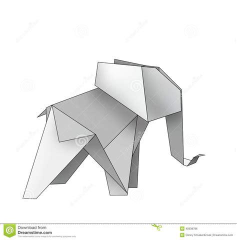 Origami Elephant Stock Illustration - Image: 40938786