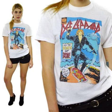 def leppard women vintage 80s def leppard and the women of doom t shirt sz