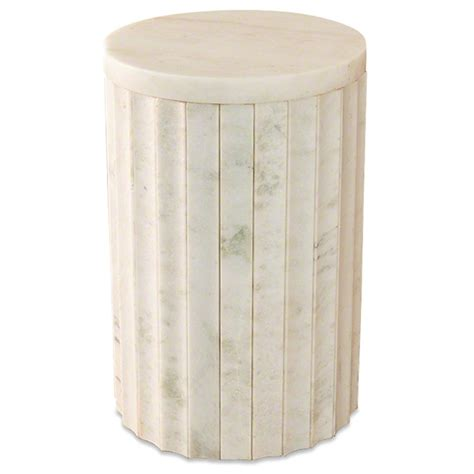 Jooy Living Damien Side Table damien modern classic marble white column end table
