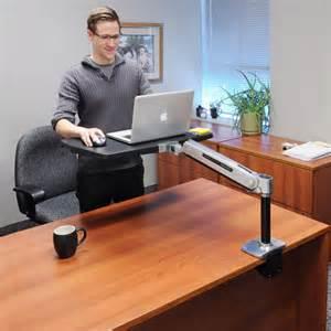 stand up sit desk ergotron workfit p sit stand workstation