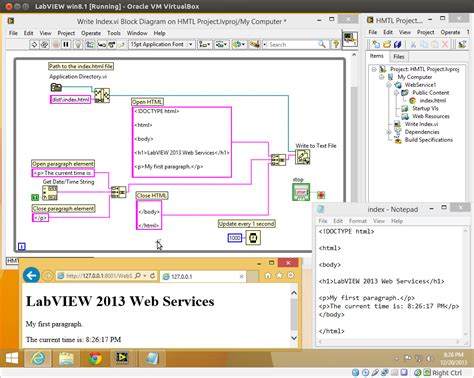 tutorial web services net labview web services dynamically update an html page