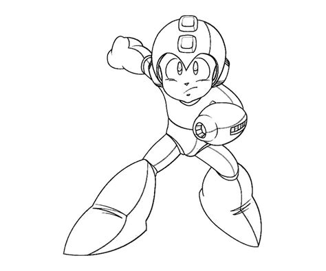 free coloring pages of mega man color sheets